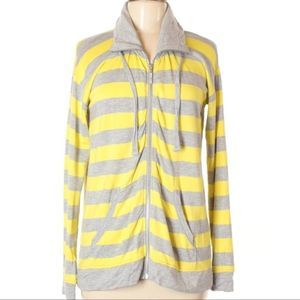 [1-31] Pieces @ ASOS yellow & gray striped hoodie
